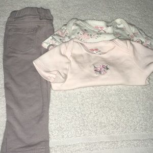 Adorable 3pc Baby Girl Outfit